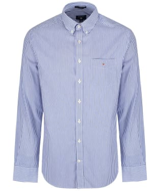 Men's GANT Regular Broadcloth Banker Shirt - Yale Blue