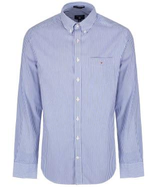 Men's GANT Regular Broadcloth Banker Shirt - Yale Blue
