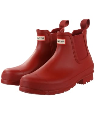 Men's Hunter Original Chelsea Boots - Military Red