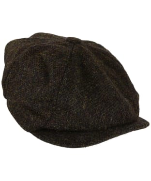 Heather Scott Harris Tweed Newsboy Cap - Brown Barleycorn