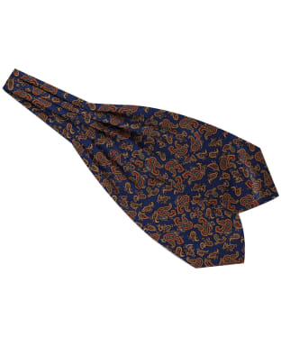 Men's Soprano Silk Twill Paisley Cravat - Navy