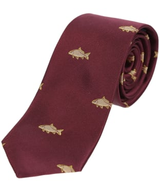 Men's Soprano Carp Country Silk Tie - Wine