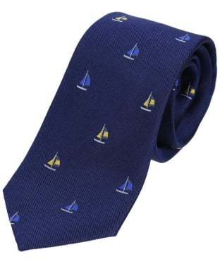 Men's Soprano Sailing Boats Silk Tie - Navy