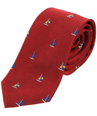 Men's Soprano Sailing Boats Silk Tie - Red