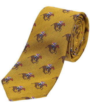 Men's Soprano Horse Racing Woven Silk Tie - Gold