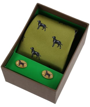 Men's Soprano Black Labradors Tie and Cufflink Set