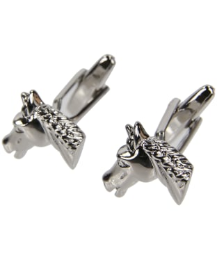 Men's Soprano Horses Head Cufflinks - Silver