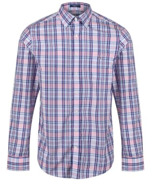 Men's GANT Broadcloth Plaid Shirt - White
