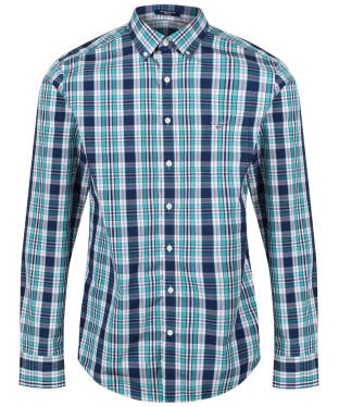 Men's GANT Broadcloth Plaid Shirt - Persian Blue