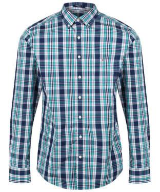Men's GANT Broadcloth Plaid Shirt - Persian Blue