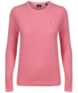 Women's GANT Crew Neck Jumper - Geranium Pink