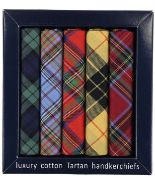 Men's Soprano Pack Of 5 Tartan Handkerchiefs