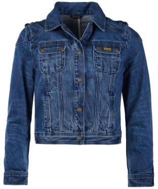 Women's Barbour International Durness Denim Jacket - Light Indigo