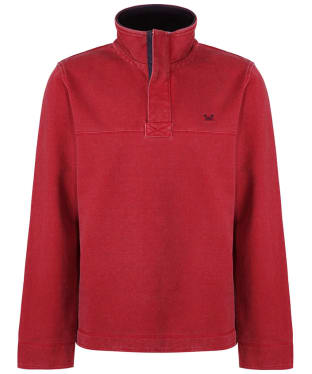 Men's Crew Clothing Padstow Pique Half Zip Sweater - Classic Red