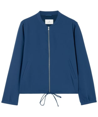 Women's GANT Diamond G Drawstring Jacket - Marine
