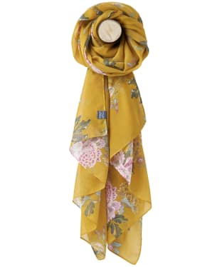Women's Joules Wensley Woven Scarf - Gold Chinoise Flower
