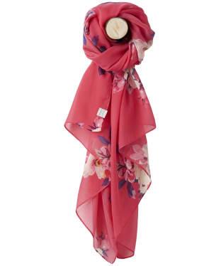 Women's Joules Wensley Woven Scarf - Raspberry Bircham Bloom