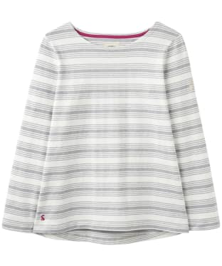 Women's Joules Harbour Jersey Top - Grey Marl Stripe