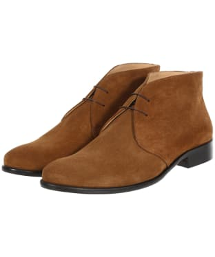 Men's Fairfax & Favor Suede Desert Boots - Tan Suede