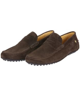 Men's Fairfax & Favor Monte Carlo Driver Shoes - Chocolate Suede