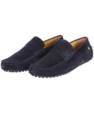 Men's Fairfax & Favor Monte Carlo Driver Shoes - Navy Blue Suede