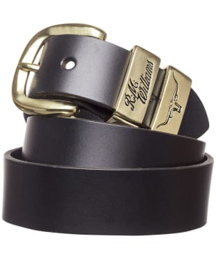 "Men's R.M. Williams 1 1/2"" 3 Piece Solid Hide Belt - Black"