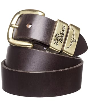 Men's R.M. Williams 3 Piece Solid Hide Belt - Chestnut