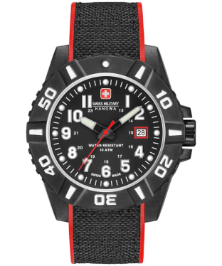 Men's Swiss Military Hanowa Black Carbon Watch
