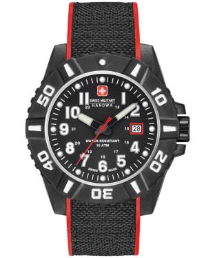 Men's Swiss Military Hanowa Black Carbon Watch