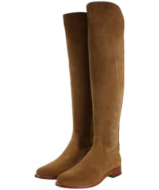 Women's Fairfax & Favor Flat Amira Boots - Tan Suede