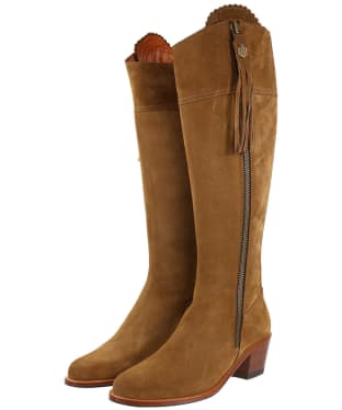 Women's Fairfax & Favor Regina Heeled Sporting Fit Boots - Tan Suede