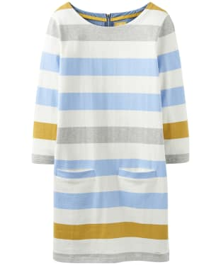 Women's Joules Jade Jersey Mix Tunic - Blue Gold Bold Stripe