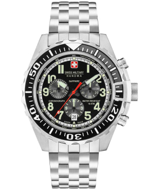 Men's Swiss Military Hanowa Touchdown Chrono Watch - Black Silver