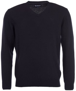Men's Barbour Essential Lambswool V Neck Sweater - New Black