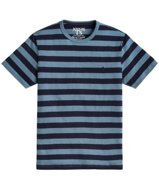 Men's Joules Boathouse Striped Top - Teal Grey Stripe