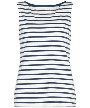 Women's Seasalt Sailor Vest Top - Breton Ecru Night