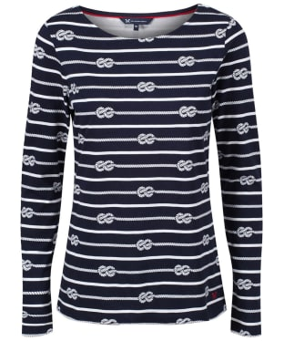 Women's Crew Clothing Essential Rope Stripe Breton - Navy / White