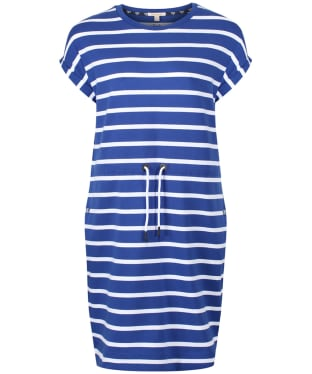 Women's Barbour Marloes Dress - Sea Blue / White