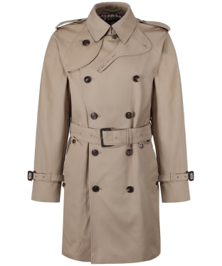 Men's Aquascutum Corby Double Breasted Trench Coat - Camel