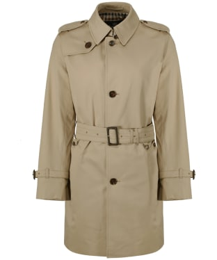 Men's Aquascutum Corby Single Breasted Trench Coat - Camel