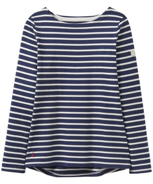 Women's Joules Harbour Jersey Top - Hope Stripe French Navy