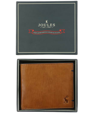 Men's Joules Tillman Boxed Leather Wallet - Tan