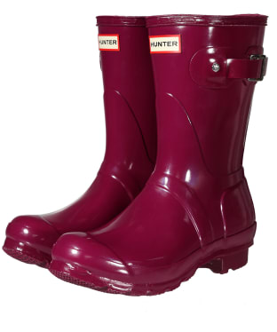Women's Hunter Original Short Gloss Wellington Boots - New Violet