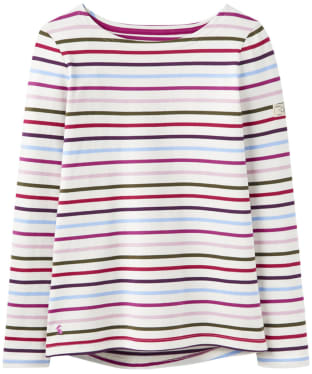 Women's Joules Harbour Jersey Top - Cream Multi Stripe