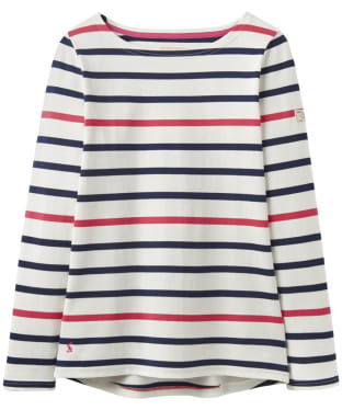 Women's Joules Harbour Jersey Top - Navy / Raspberry Stripe
