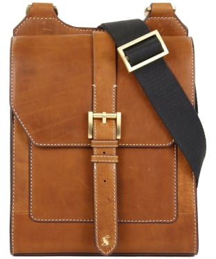 Women's Joules Stratford Leather Cross Body Bag - Tan