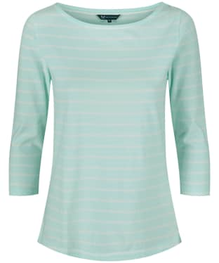 Women's Crew Clothing Essential Breton Top - Glass Blue / White