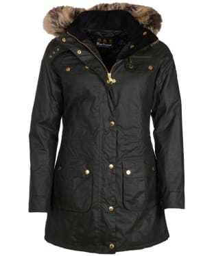 Women's Barbour International Slipstream Waxed Parka - Sage