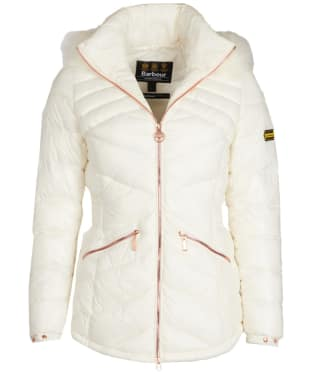 Women's Barbour International Superstock Quilted Jacket - Cloud