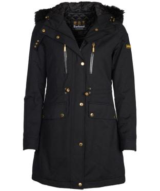 Women's Barbour International Clady Waterproof Jacket - Black